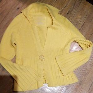 Relativity yellow one button sweater